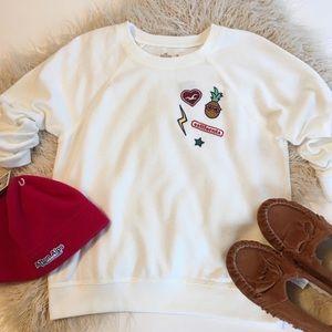 Hollister Embellished Sweatshirt NWT